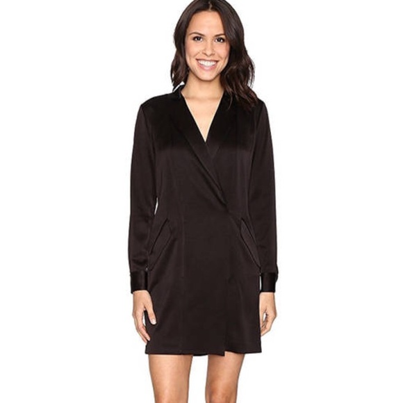 a8590c0aeb4a Halston Heritage Dresses | Long Sleeve Tuxedo Dress | Poshmark